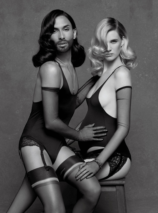 Conchita Wurst & Ashleigh Good by Karl Lagerfeld