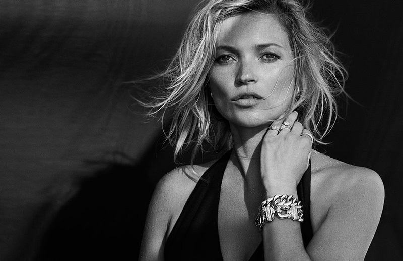 Kate Moss topless for David Yurman
