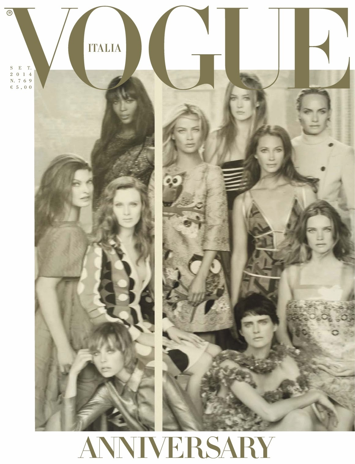 Vogue Italia 50th Anniversary cover