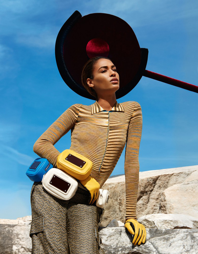 Joan Smalls models in Missoni's Autumn/Winter 2014 campaign