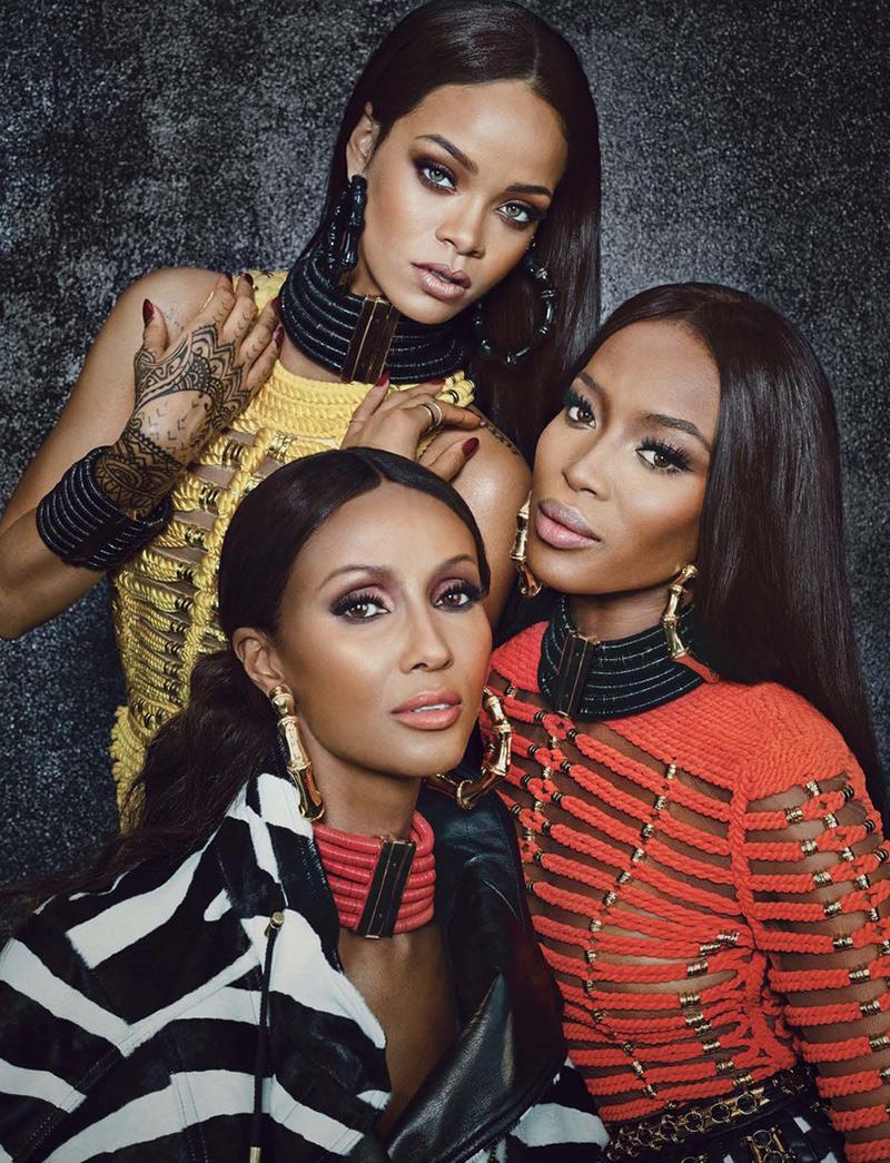 Naomi Campbell, Iman, Rihanna for W magazine
