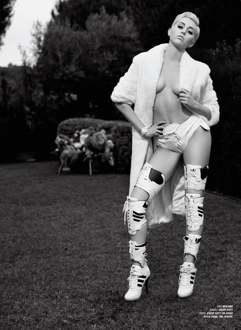 Miley Cyrus by Karl Lagerfeld for V magazine 2014