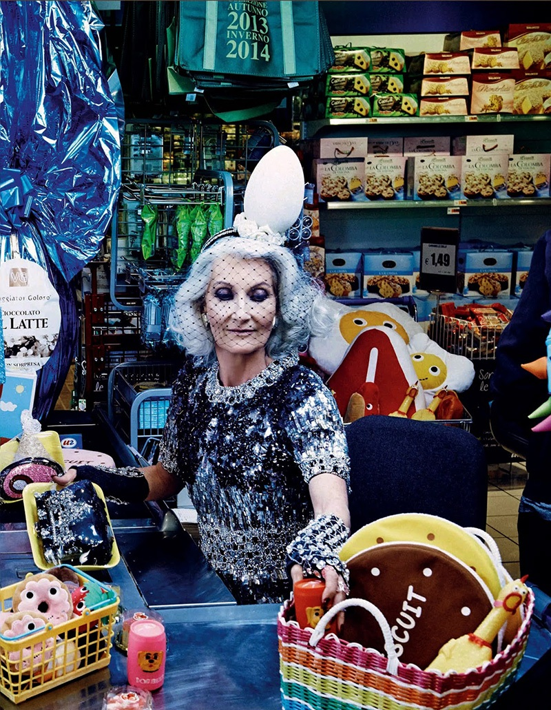 Carmen Dell'Orefice Vogue Japan Supermarket