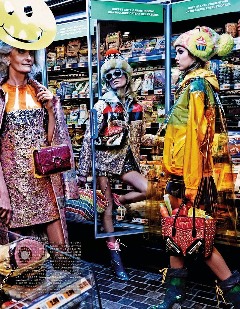 Carmen Dell'Orefice Vogue Japan Supermarket