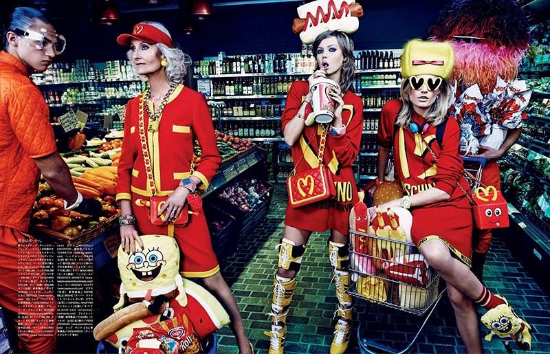 Carmen Dell'Orefice Vogue Japan Moschino