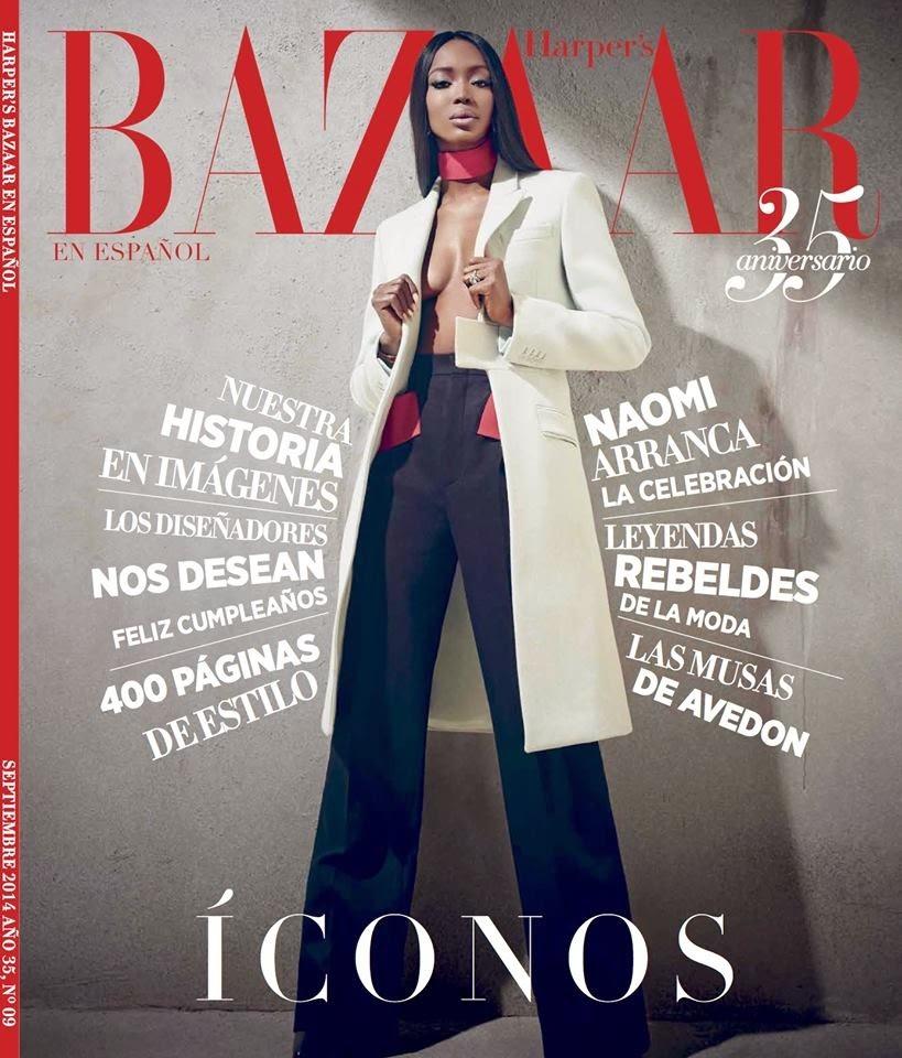 Naomi Campbell Givenchy Harper's Bazaar