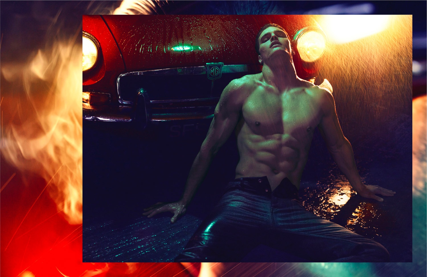 Matthew Terry naked L'Officiel Hommes Singapore