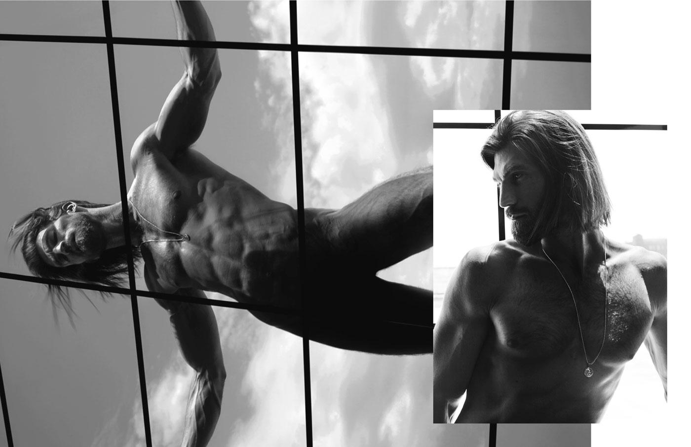 Brian Shimansky naked L'Officiel Hommes Singapore