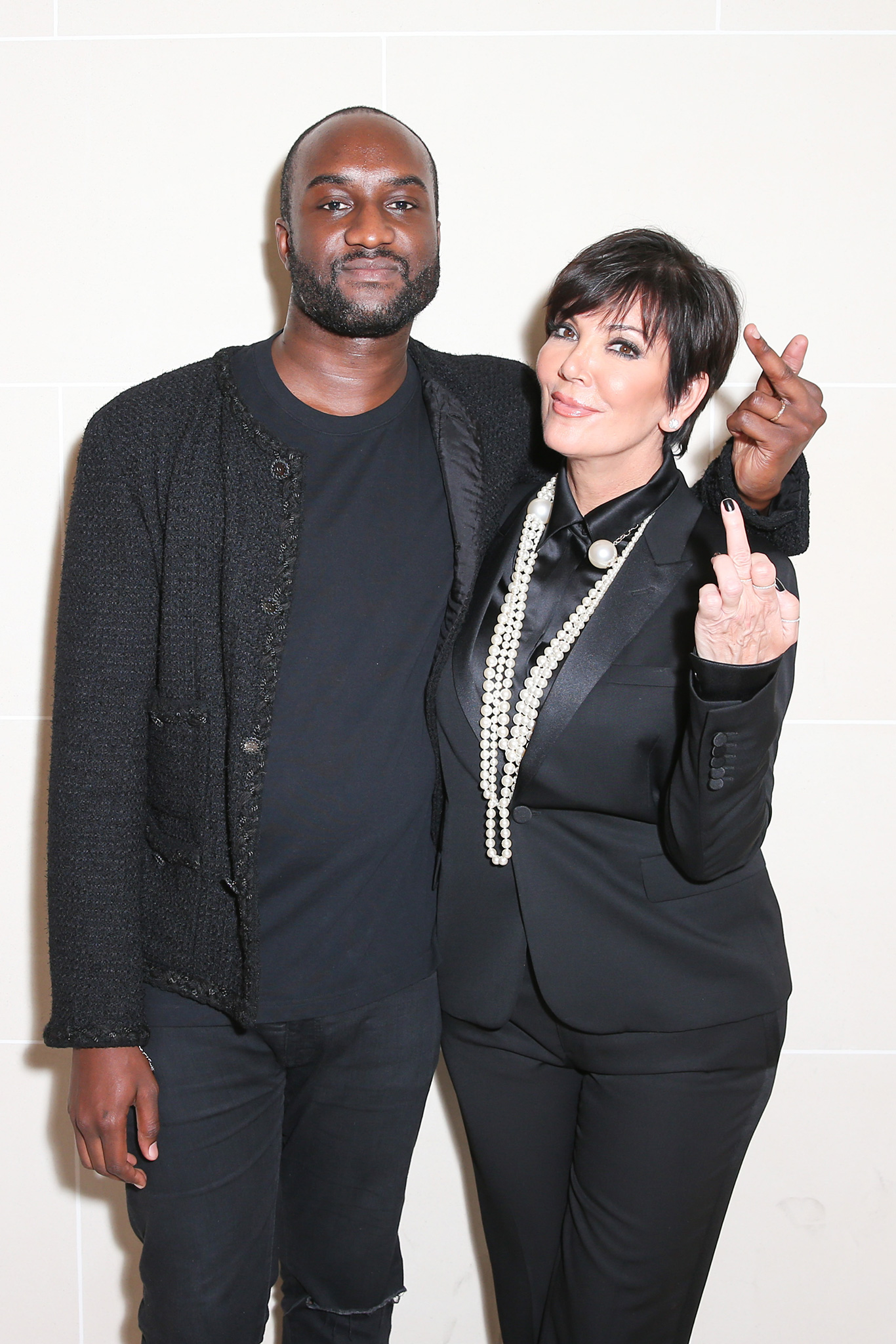Kris Jenner Virgil Abloh CR Fashion Book Paris Fashion Week