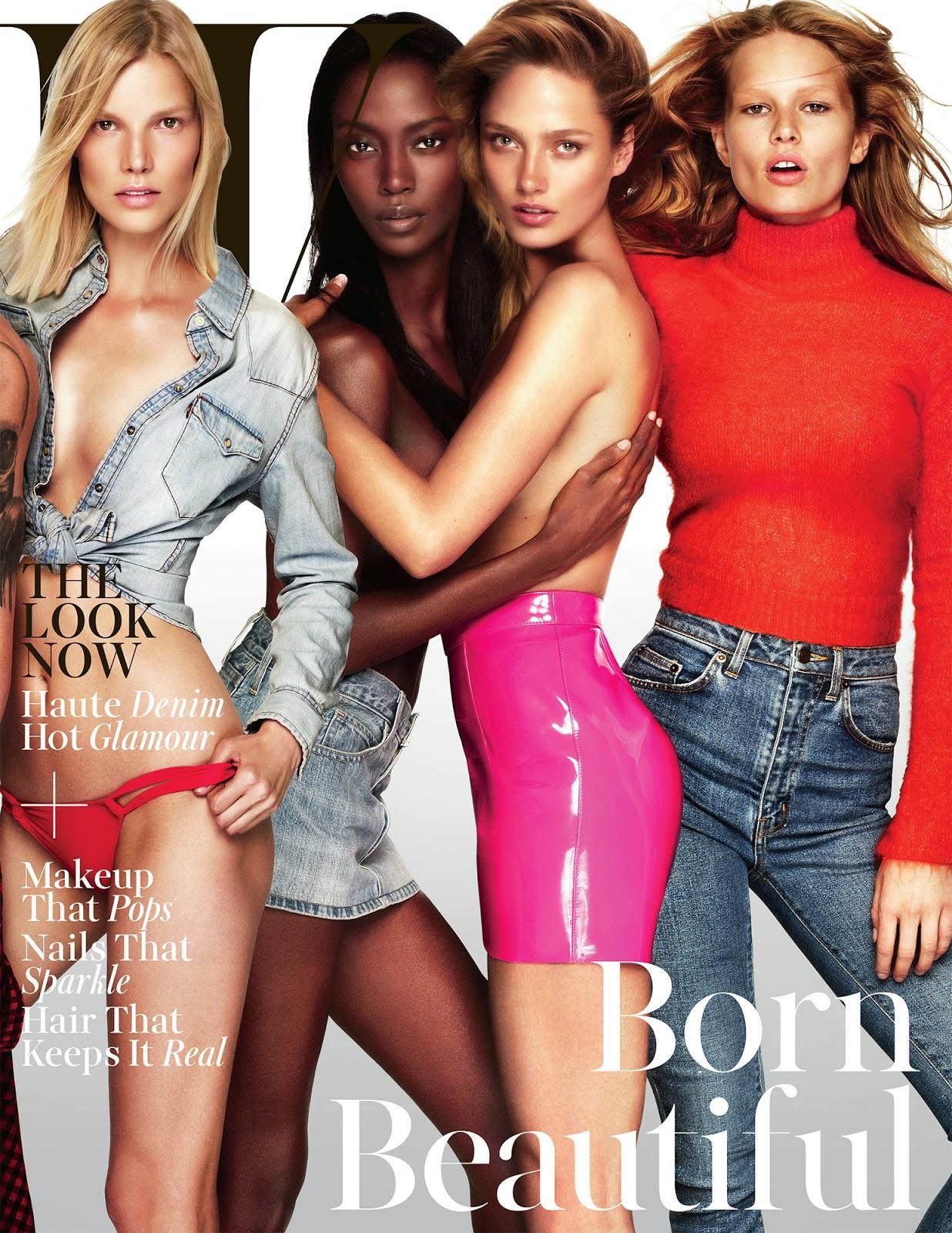 W Magazine Daria Werbowy, Kate Moss, Daan Van Der Deen, Lara Stone, and Raquel Zimmermann