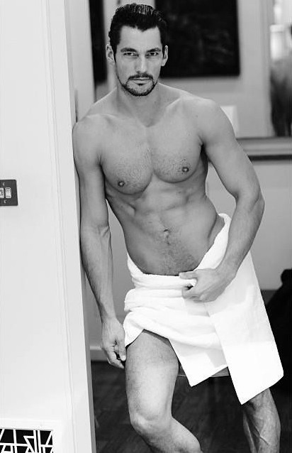 David Gandy naked Testino Towel series