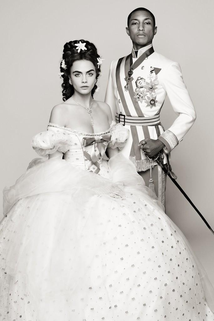Chanel Pharrell Cara Delevingne Karl Lagerfeld