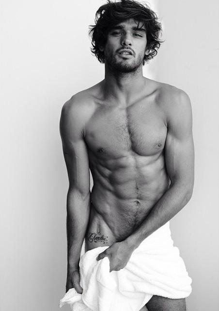 Marlon Teixeira naked Testino Towel series
