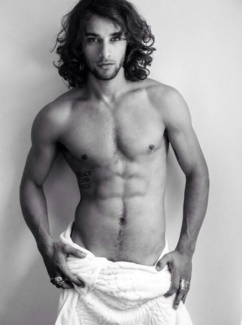 Pablo Morais naked Testino Towel series