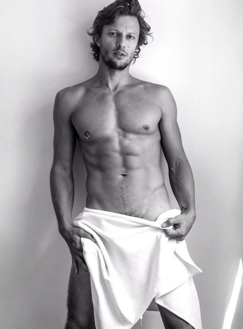 MARCELO BOLDRINI naked Testino Towel Series