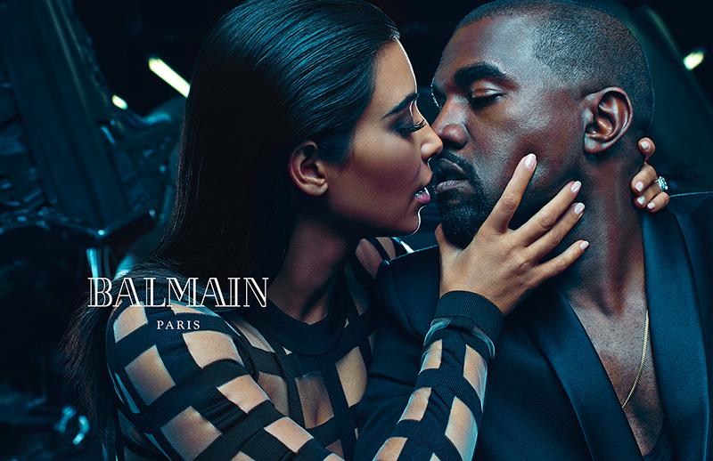 Balmain SS15 Menswear Kim Kardashian Kanye West