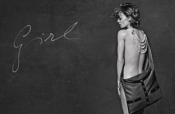 Vanessa Paradis Chanel SS15 bag