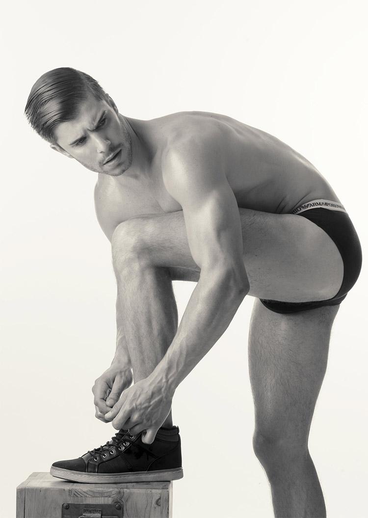 Mens underwear model