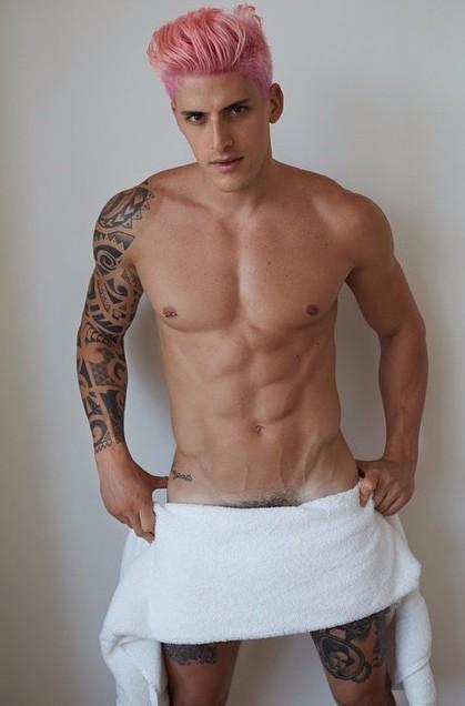 Danilo Borgato naked Testino Towel Series