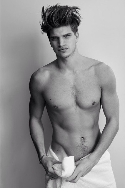 Toby Huntington Whiteley naked Testino Towel Series