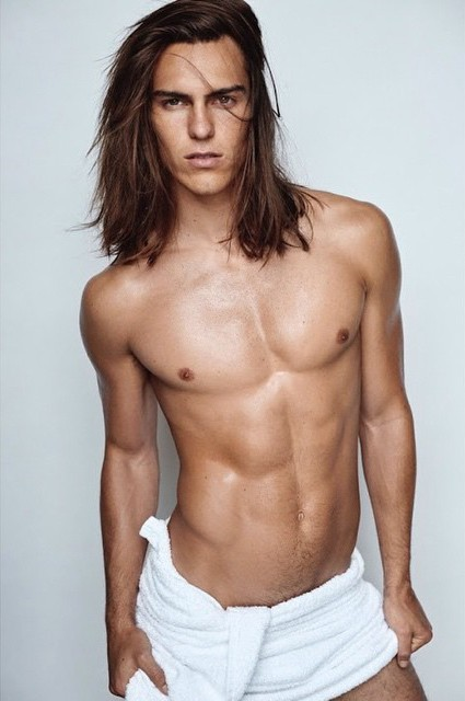 Travis Smith naked Testino Towel Series