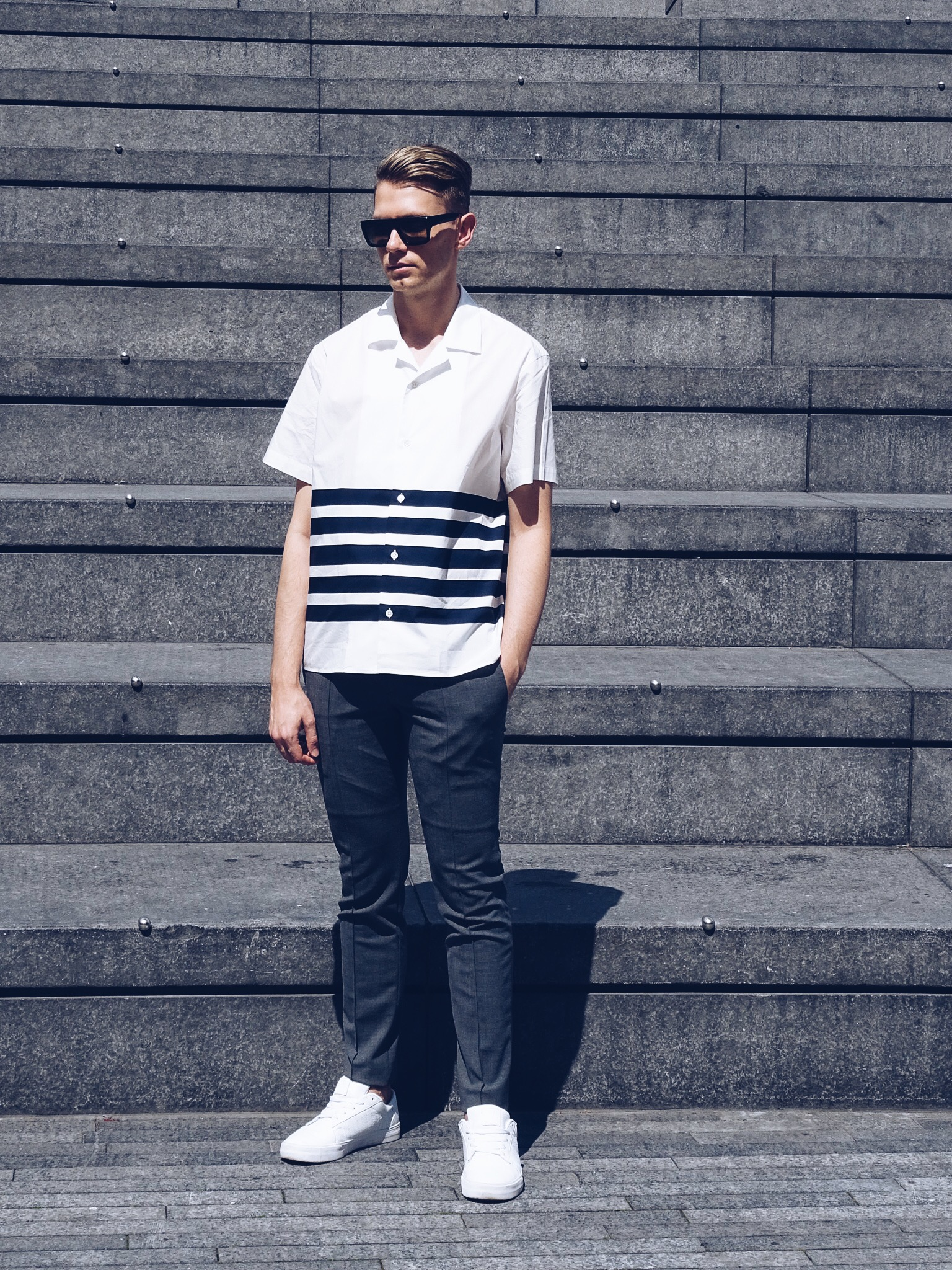 Mens striped shirt Acne
