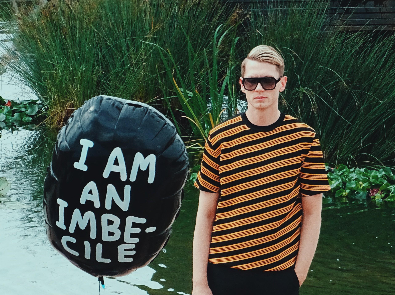 Banksy Dismaland I am an imbecile Balloon