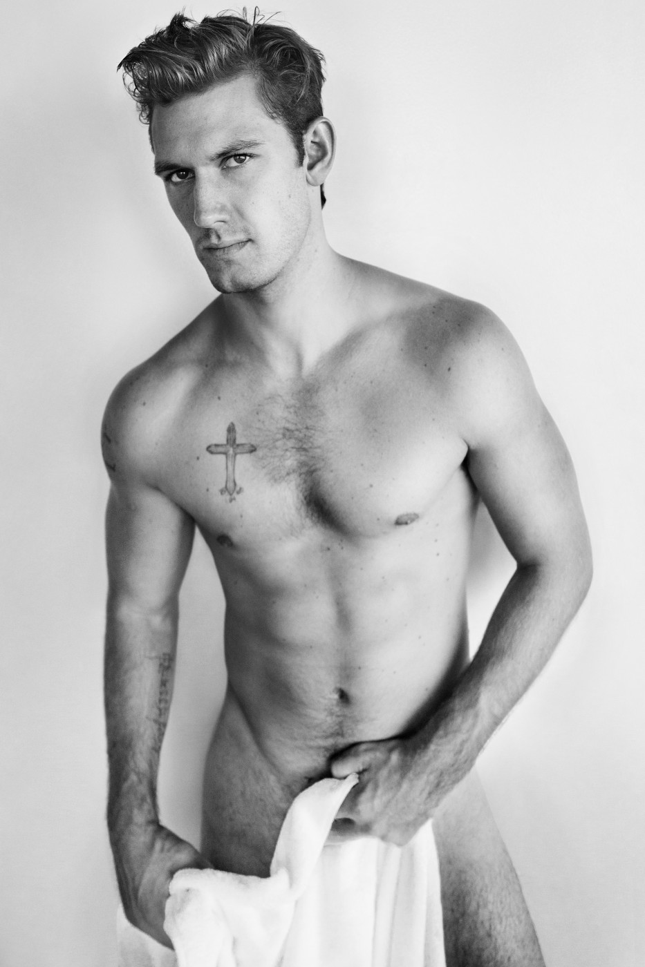 Alex Pettyfer naked Testino Towel Series