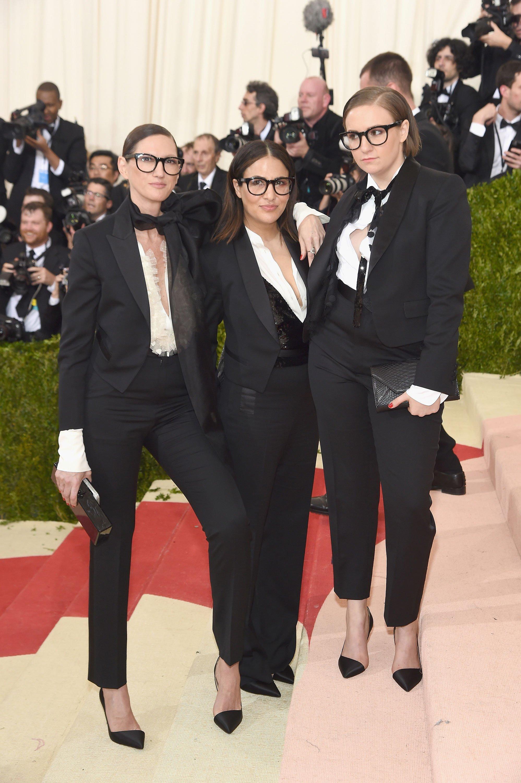 Jenna Lyons jennifer Konner Lena Dunham Met Gala 2016