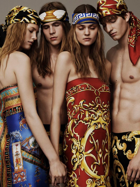 versace accessories and scarves campaign