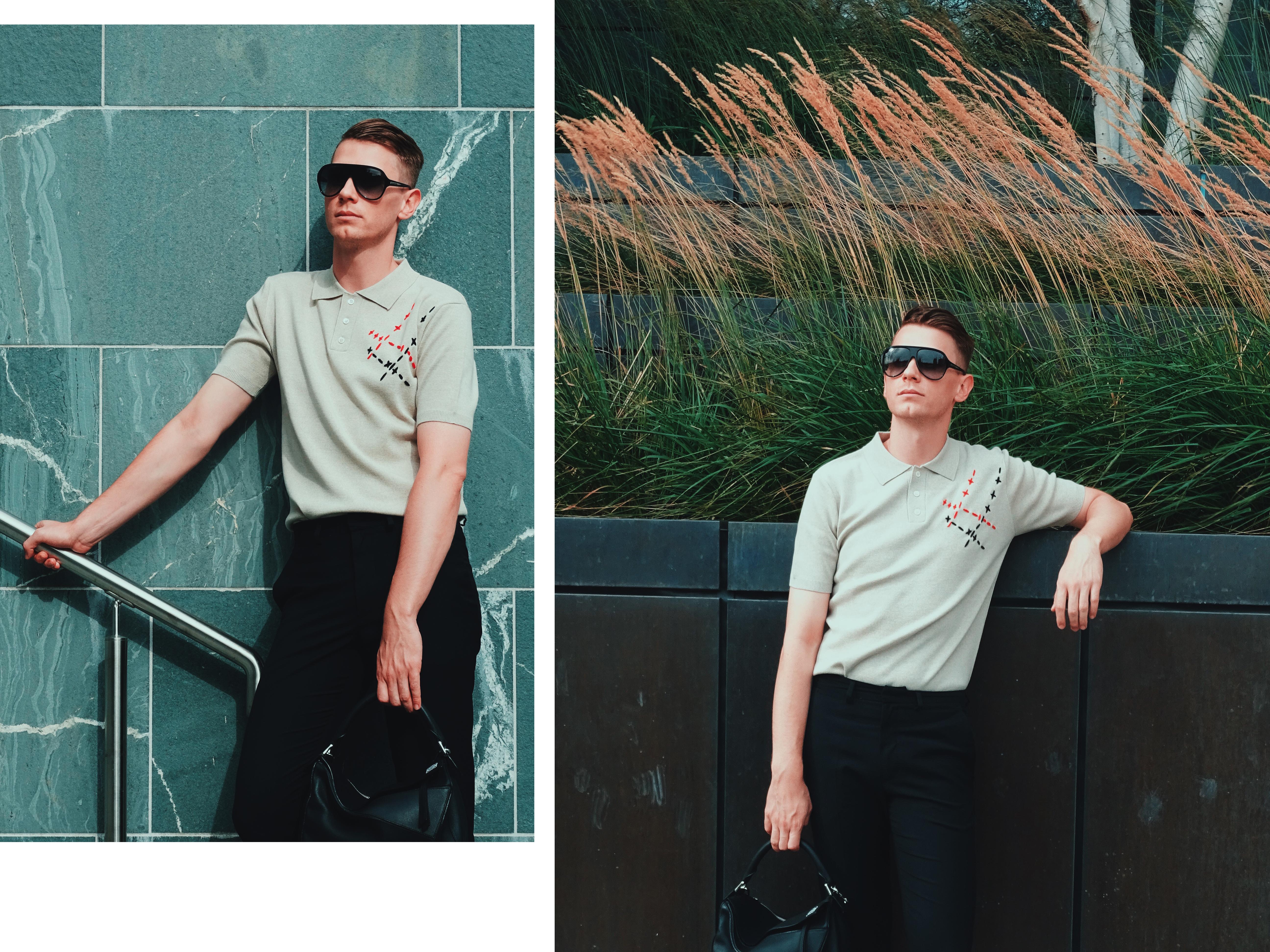 J.W.Anderson Menswear Polo Shirt Loewe