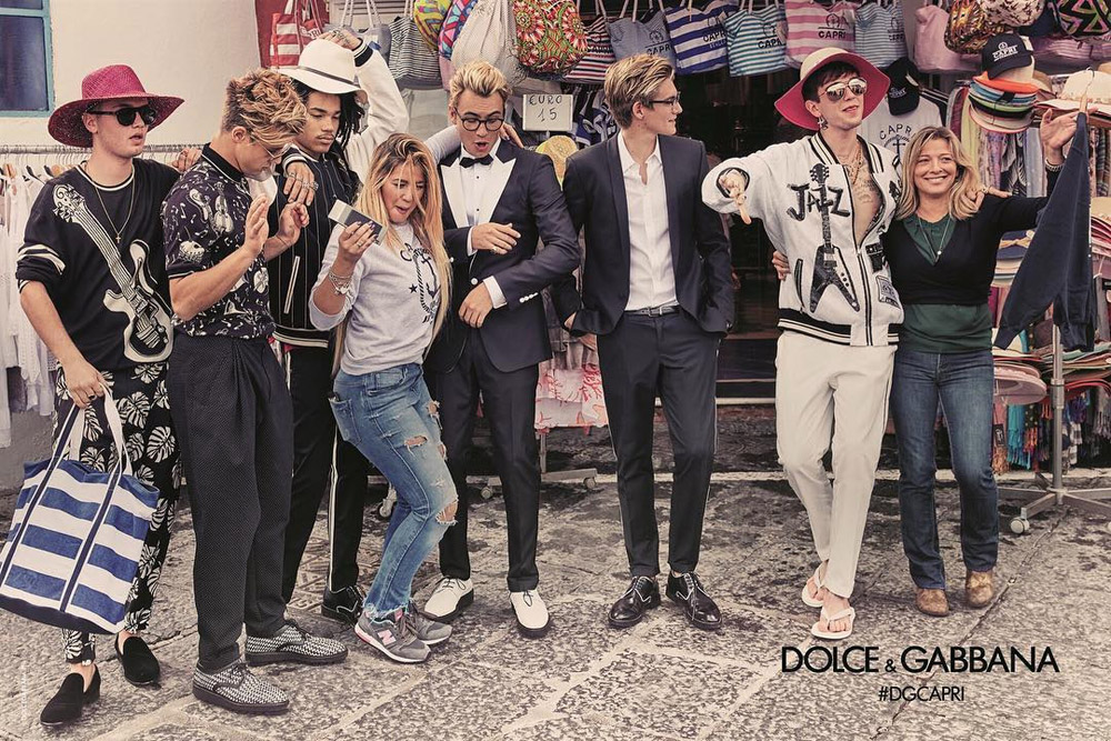 Dolce Gabbana SS17 Cameron Dallas, Presley Gerber, Rafferty Law, Gabriel Kane-Day Lewis