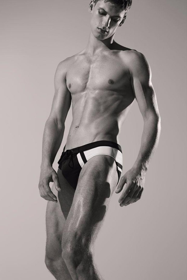 david trulik SS17 Dirk Bikkembers Male Model
